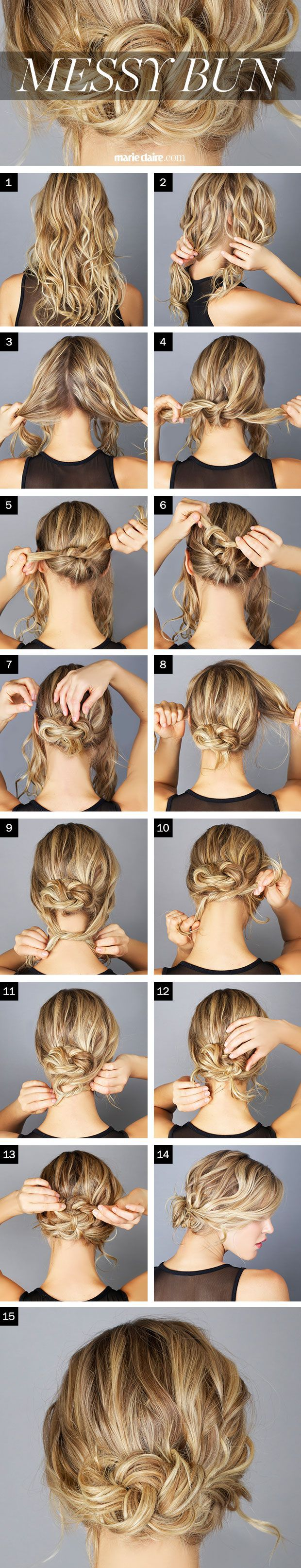 The steps to the perfect messy bun! Get inspired with haircare from Duane Reade.: Messy Bun Tutorial, Hairstyles, Easy Messy Bun, Hairdos, Hair Do, Updos, Messy Buns, Hair Style