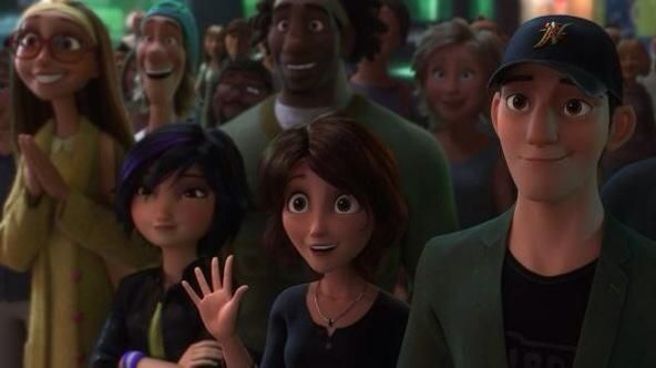 They're so proud of him. *tears* Look at Tadashi. :'(: Disney Movies, Heroes, Disney Big Hero, Baymax Super Hero, Big Brothers, Omggggggg Big Hero, Big Hero 6
