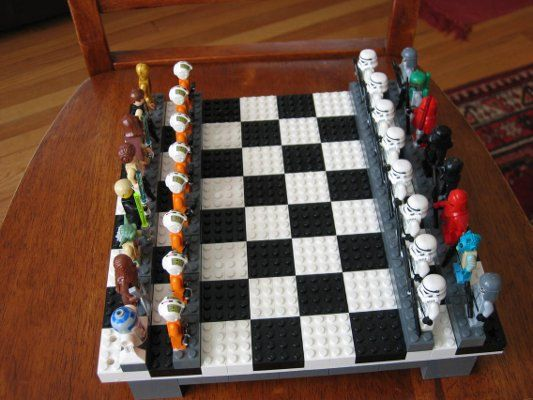 This is what Elijah wants, Lego star wars chess set. He wouldn't stop bothering me until I pinned it.: Lego Star Wars, Stars, Lego Chess, Legos, Chess Sets, Starwars