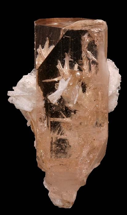 Topaz gem crystal with Albite / Baltistan, Pakistan: Crystals Minerals Gemstones, Gemstones Minerals, Minerals Crystals, Minerals Topaz, Minerals Rocks Gems, Crystals Minerals Fossils, Minerals Rocks Crystals, Minerals Gems Stones, Rocks Gems Minerals