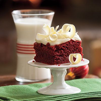 Add slivered almonds for the rich crunchy taste. Red Velvet Brownies - 10 Decadent Red Velvet Desserts | Southern Living. Please visit my website #TrushaDesai.com and blog #TrushaDesai.DudaOne.com: Desserts, Cake, Cream Cheese, Sweet Treats, Food, Recipes