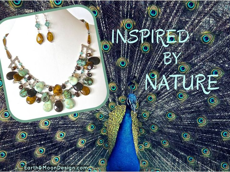 """Be the beautiful peacock in luxurious gemstones this year. Wear this statement piece with teal, greens, black or wheat for a sensational look. """"Lynx"""" Tigers Eye, Smoky Quartz, African Turquoise & Crystal Bib, $130: bit.ly/1KZZKom: Tiger Eyes,"""
