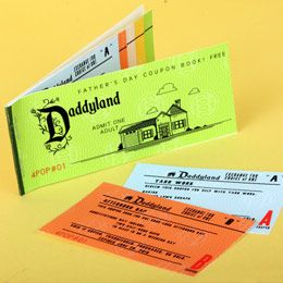 Couponbook in the style of classic Disneyland tickets for Father's Day.    http://family.go.com/printables/article-651492-daddyland-coupon-book-t/: Daddyland Coupon, Coupon Books, Craft, Gift Ideas, Fathers Day, Fathersday, Father'S Day, Free Prin
