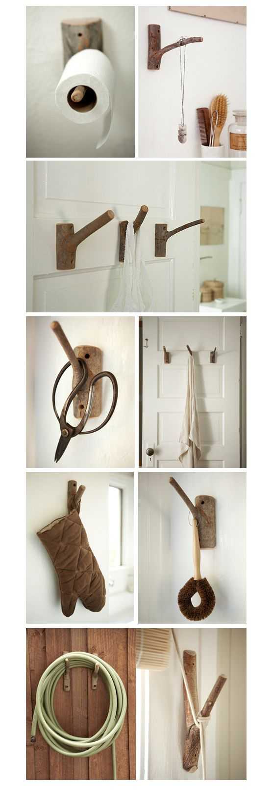 DIY: Branch hooks in wood diy  with Wood Hooks DIY Branches: Decor, Ideas, Craft, Wood Hook, Branch Hooks, Wooden Hook, Tree Branches, Diy Wood, House