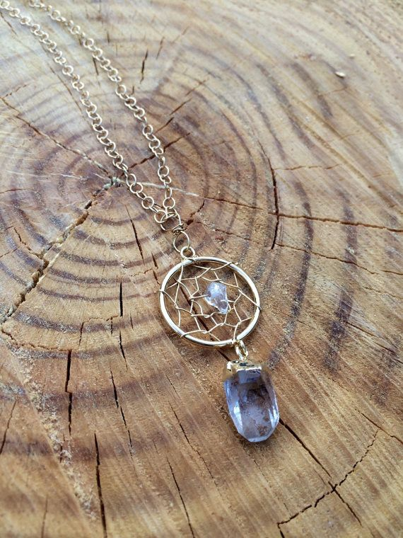 Dreamcatcher Healing Quartz Crystal Necklace: Pendant Necklace, Crystals, Crystal Necklace, Quartz Crystal, Dreamcatcher Healing, Catcher Pendant, Crystal Culture, Dream Catcher