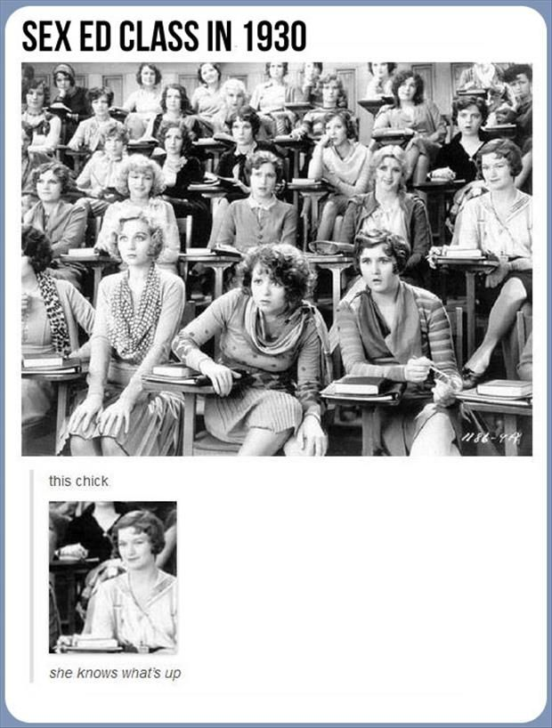 Funny Pictures Of The Day – 48 Pics: Sex Education, Girl, Stuff, Wild Party, Education Class, Class 1929, Funny, Photo, Clara Bow