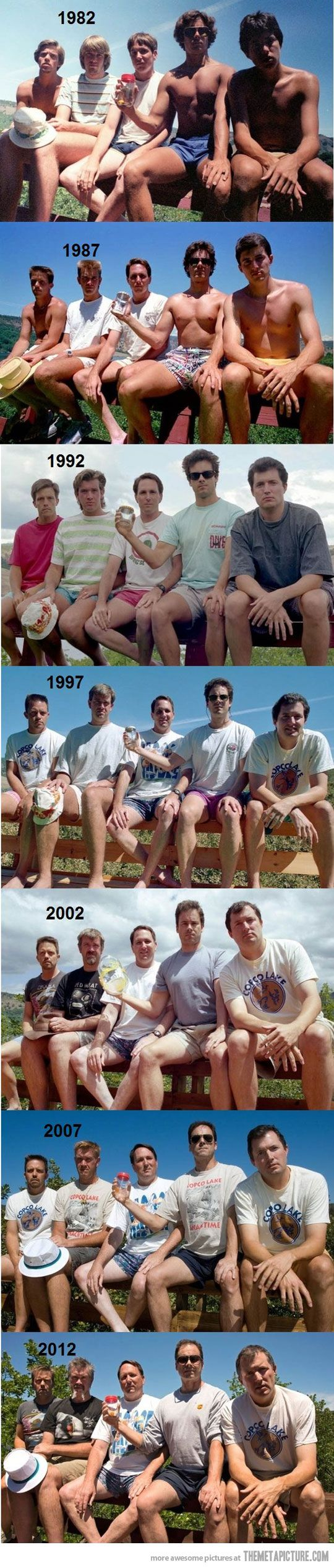 Group of friends take a picture every 5 years. So so so cool: Photos, Idea, Funny, Random, Pictures, Group Of Friends, Old Friend, 5 Years, Photography