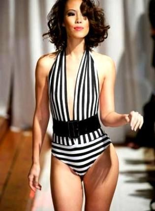 Kami Shade: Bathing Suits, Swimsuit Bodysuit, Onepiece, Swimsuits, Black White