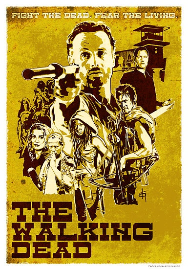 My new Walking Dead western poster: Westerns, The Walking Dead, Art, Western Poster, Walkingdead Western, Walking Dead Zombies, Dead Poster