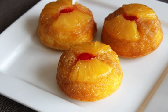 Pineapple Upside-Down Cupcakes  Posted by Lil Miss BossyHere's a twist for turning a crowd-pleasing classic dessert into a fun individual treats!: Sweet, Food, Pineapple Cupcakes, Recipes, Upside Down Cupcakes, Cake Mix, Pineapple Upside Down, Upsided