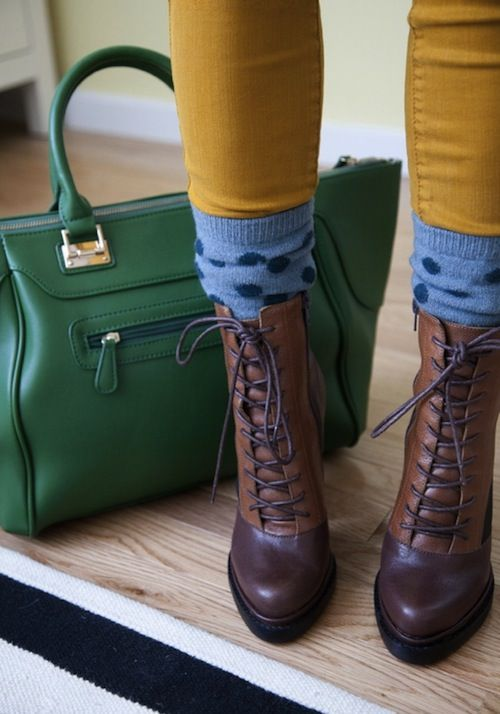 Rain or shine,  a little pick me up, like a pair of toasty socks, can make any day, a happy one.  Also, when you're looking for unexpected  creativity to an outfit, a bit of color can set a huge statement.: Shoes, Happy Socks, Fashion, Outfit, Cute So