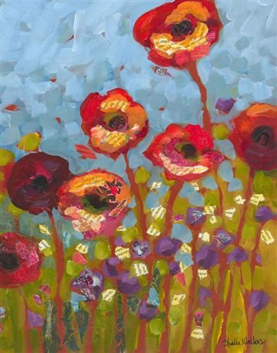 Red+Flowers+No+1+by+Shelli+Walters+available+on+UGallery.com: