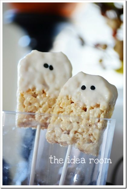 rice krispie bars halloween ... a quick and easy Halloween treat for a classroom party: Halloween Rice Krispy Treat, Halloween Rice Crispy Treat, Halloween Rice Krispie Treat, Rice Krispies, Krispie Bar, Halloween Food, Easy Halloween Treat, Krispie Ghost