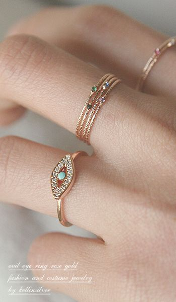 Rose Gold Stackable Rings: