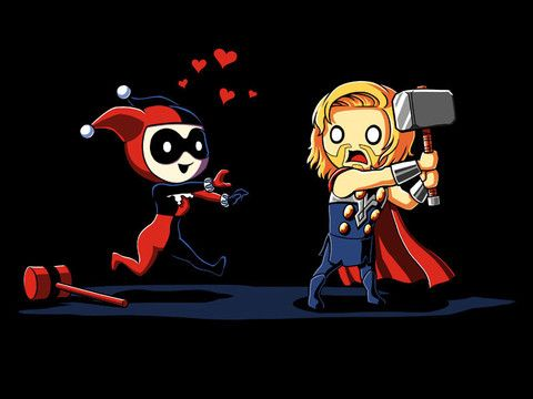 She's normally goes for bad boys, but that hammer is really pretty.: Stuff, Nerdy Shirts, Comic, Mad Love, Teeturtle, T Shirts, Products, Hammer, Harley Quinn