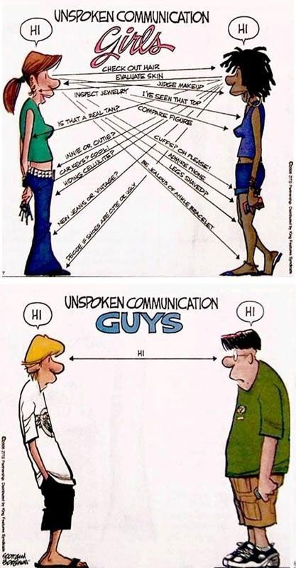 Unspoken communication!!  This is so true for most women! However, I'm on the male version on this one!!: Girls, Truth, So True, Funny Stuff, Humor, Funnies, Things, Unspoken Communication