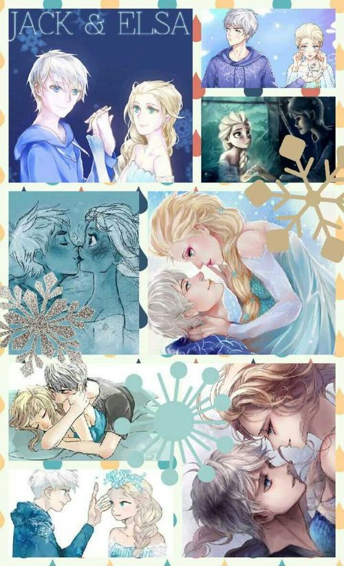 Collage: http://weheartit.com/entry/96943723/search?context_type=search&context_user=ktrishaparago&page=3&query=%23jelsa: Wallpaper, Movie, Disney Fanart Couples, Jack Elsa, Otp