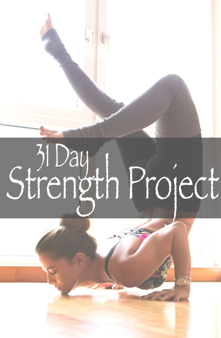 FREE YOGA! Pin it and join in on our 31 day yoga for strength project and watch your practice grow! Starts Jan 1, 2015!: