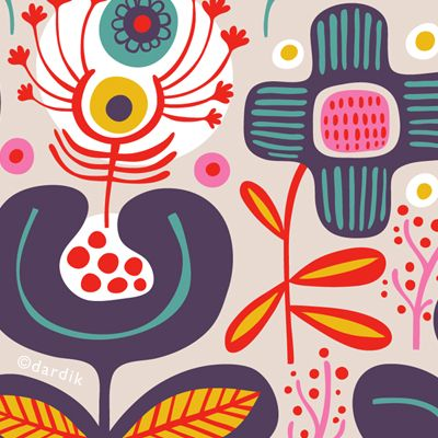 """Get """"pin-spired"""" by this colorful and creative folk art collection (multiple cultures included)  culled by artist Kathy McGraw on her Pinterest board at> http://pinterest.com/kmgraphiques/folk-art-inspired-design-illustration/http://pinterest.c"""