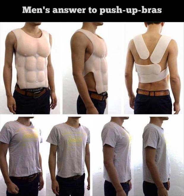 HUGE Funny Picture Dump Of The Day – 95 Pics!: Pushup, Push Up Bra, Men S Answer, Men'S, Funny Stuff, Humor, Funnies