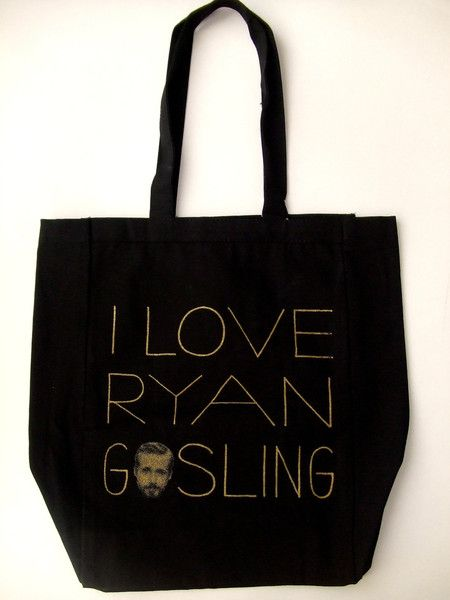 I Love Ryan Gosling Tote by Ross + Leo for DNA (the shop): Ryan Gosling, Gift Guide, Tote 20, All Canvas, Baby Sister, 20 Dnatheshop Com, Birthday Ryan, Gosling Totes, Tote Bags