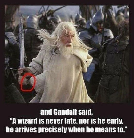 next time i watch these movies i'll be looking for this to see if it's true...if it is...that is GREAT! X): Lotr, Watch, Movies, Funny, Wizard, Middle Earth, Hobbit, Lord Of The Rings, Gandalf