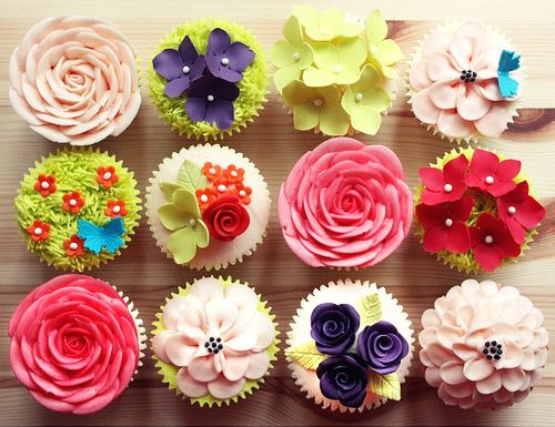 springtime cupcakes!: Cup Cakes, Ideas, Sweet, Floral Cupcakes, Food, Flower Cupcakes, Pretty, Dessert