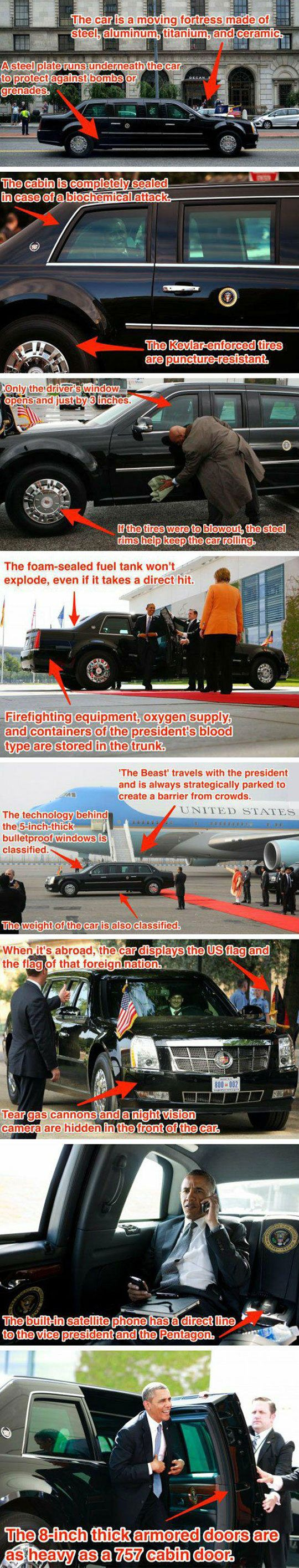 The Best Place To Be During An Apocalypse: Obama's Car: Beast, Stuff, Awesome, U.S. Presidents, Funny, Presidents Car, Apocalypse Cars, Place