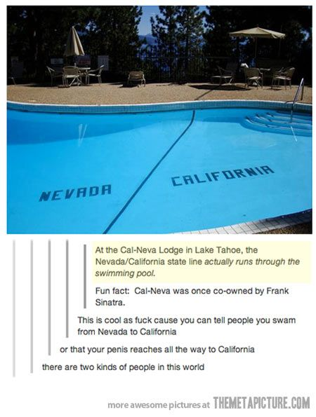 There a two kinds of people in this world…: Giggle, Funny Stuff, Places, Calneva, U.S. States, Lake Tahoe