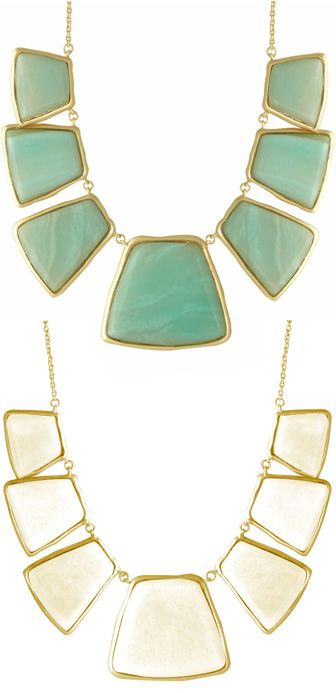 White or turquoise? Both! Make a 2-in-1 statement with this reversible statement necklace.: Colorful Statement Necklace, Statement Necklaces, Big Necklace Outfit, Cute Ideas, Jewelry Necklace Statement, 2 In 1 Statement, Long Statement Necklace, Pretty Ne