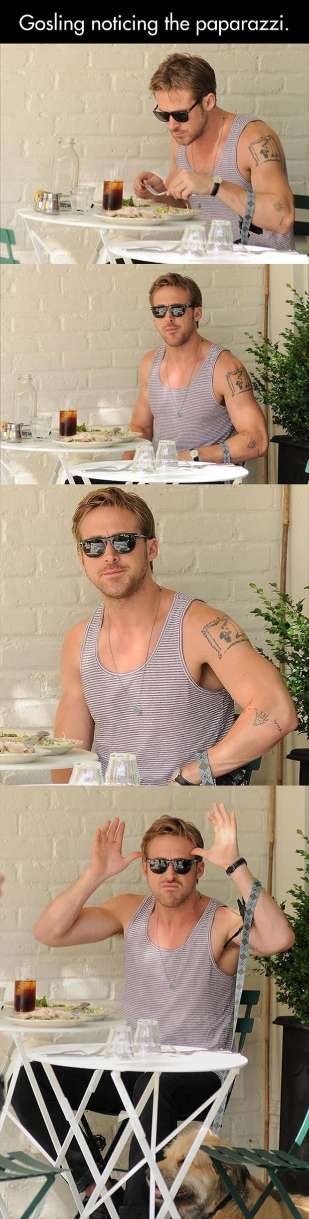 XD: Ryan Gosling, Giggle, Ryangosling, Funny Pictures, Gosling Noticing, He S Perfect