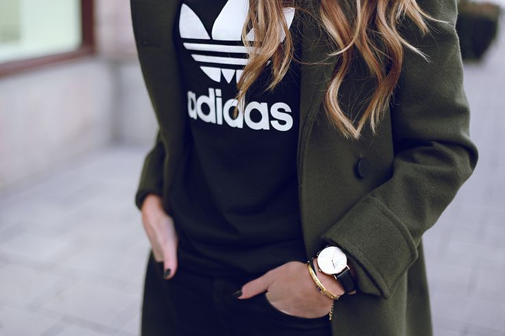 mixing relaxed with business casual. talk about #ComfortChic: Outfits, Fashion, Street Style, Closet, Adidas Outfit, Coat