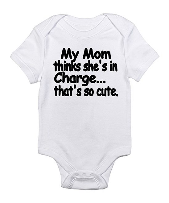 Cloud White 'That's So Cute' Bodysuit - Infant | Daily deals for moms, babies and kids: Dad, Mom Baby, Truth, Mom Thinks, Heat Transfer Vinyl Onesie, Funny Onesies For Boys