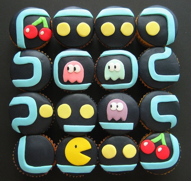 Cupcakes! #cupcakes #cupcakeideas #cupcakerecipes #food #yummy #sweet #delicious #cupcake: Sweet, Recipe, Food, Cup Cake, Pacmancupcakes, Pac Man Cupcakes, Party Ideas, Dessert