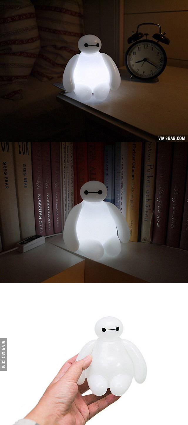 I want this! *fistbump* Lalalalala: Lamps, Heroes, Stuff, Baymax Lamp, Baymax Light, Led Lamp, Disney, Big Hero 6