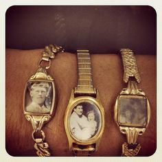 old watches turned charm bracelets