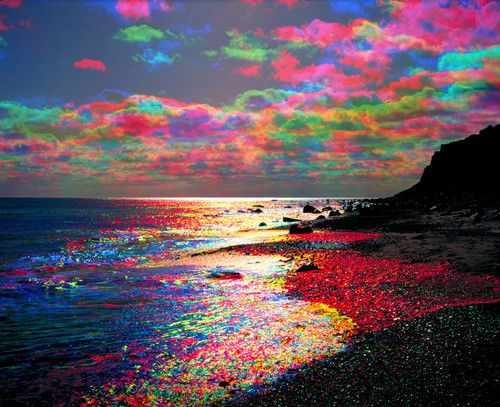 Rainbow colored clouds - we actually saw a few of these at the beach one year!  Beautiful!: Picture, Colour, Sky, Nature, Colors, Beautiful, Rainbows, Cloud, Photo