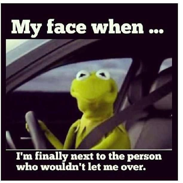 So true!  Or, for the person who drives 10 mph under the speed limit in the passing lane.: Face, Giggle, Truth, So True, Funny Stuff, Funnies, Humor, Road Rage