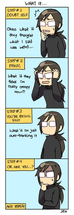 Uwaaa~ Mostly when you're a perverted Otaku like me who's not afraid to say anything when with her friends... Who are normal, by the way.: Real, 4 Panel Life Comics, Time, Truth, 4Panellife, Random, Anxiety Comic, People, Step