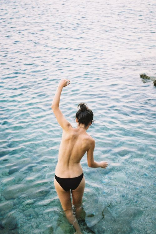 via ba: Skinny Dipping, Free, Life, Inspiration, Girl, Summer, Beach, Photography