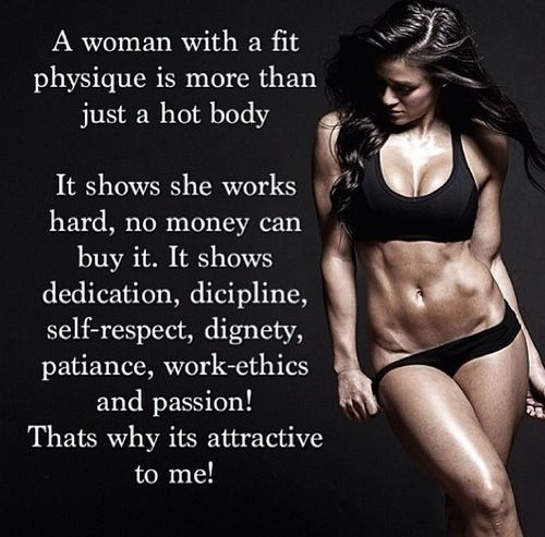 A women with a fit physique is more than just a hot body.. I know a young lady like this.. My daughter: