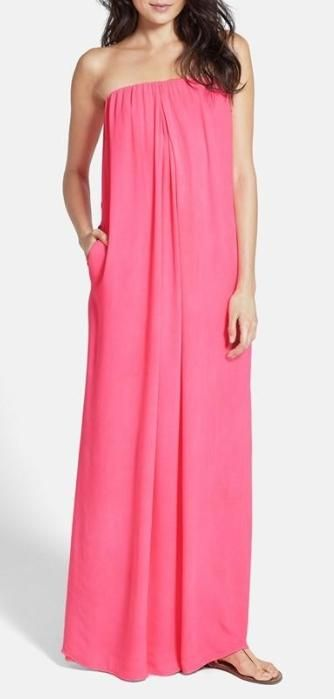 Go with the flow - strapless maxi dress: Fashion Dresses, Pink Dresses, Strapless Maxi Dresses, Spring Summer, Hot Pink, Maxi Dresss, Pink Maxi Dresses