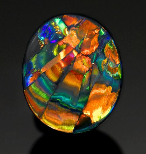 "Black Harlequin Opal  ""The Cathedral Window"" - Lightning Ridge, Australia Wow! I'd like to see this in person.: Black Harlequin, Mineral, Black Opal, Lightning Ridge, Stone, Opals, Cathedral Windows"