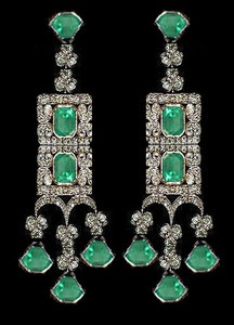 https://www.bkgjewelry.com/ruby-rings/73-18k-white-gold-diamond-ruby-ring.html Art Deco emerald diamond earrings: Emerald Earrings, Bauble, ̄ Jewelry Diamonds Emeralds, Jewelry, Diamond Earrings, 00 Earrings