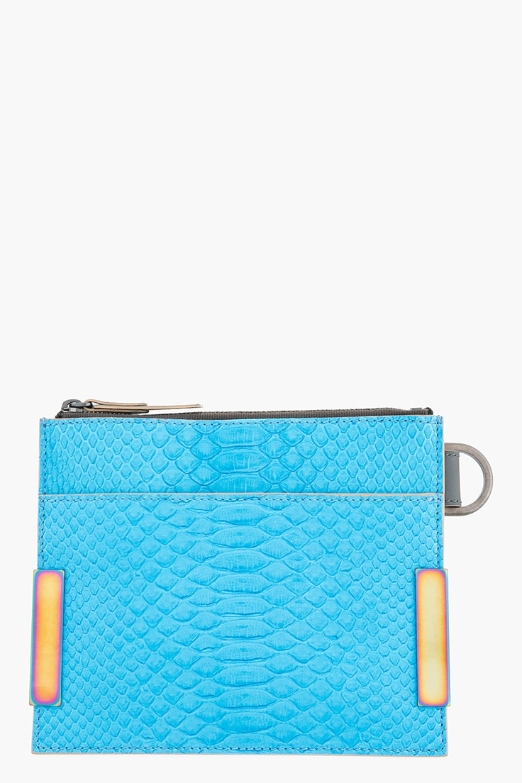 LANVIN Large Blue Pythonskin Two-tone Flat Wallet // ¡Llegó la primavera! Festéjalo con esta colorida cartera de @LANVIN Paris / #Style: Blue Pythonskin, Two Tone Flat, Lanvin Large, Card, Flats, Pythonskin Wallet, Pythonskin Two Tone, Large Blue