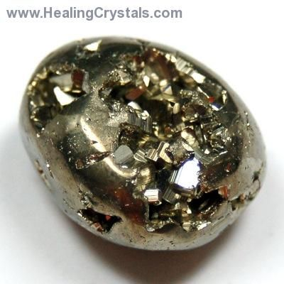 Pyrite is a very protective stone, shielding the user from negative energy of all kinds.   Pyrite blocks energy leaks and mends auric tears.  Carry pyrite in your pocket to protect you from both environmental pollution and physical danger.  Used on the Th
