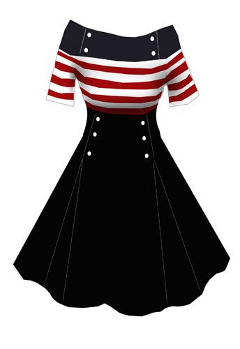 Rockabilly dress. I feel like this genre was invented for Tyler girls.: Retro Dresses, Cute Dresses, 50S Fashion Dresses, 4Th Of July, 50S Rockabilly Dresses, Pinup Rockabilly, Nautical Retro, Tyler Girls