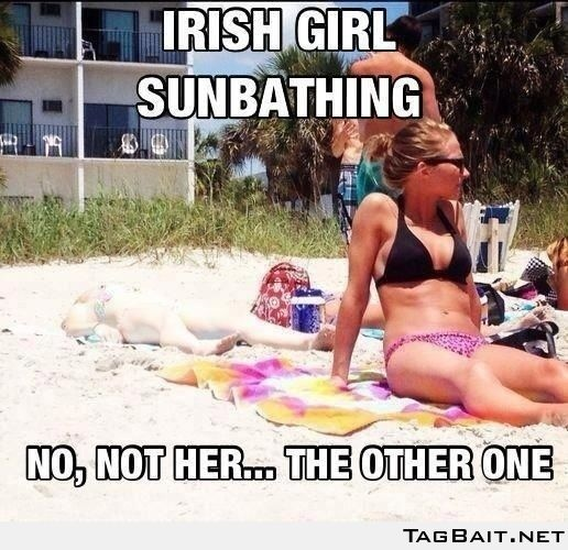 Irish girl sunbathing... No not her DIDNT EVEN SEE HER...Haha...SO ME!!!: Irish Girls, Funny Stuff, Funnies, Humor, Irishgirls, Things, Beach, Irish Girl Sunbathing