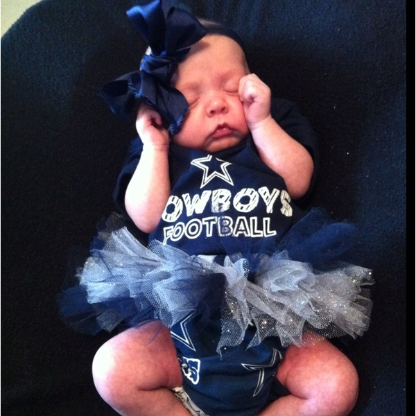 Dallas cowboys baby! If/when we have a girl, this will happen! Also, for my favorite team too. :): Dallascowboys, Idea, Baby Outfits, Baby Girl, Dallas Cowboys Baby, Cowboys 3, Cowboy Baby, Kid