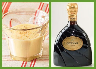 Egg Nog and Godiva Chocolate Liqueur - the perfect New Year's Eve, Eve drink.: Chocolates, Eggs, Beverage, Food, Holiday Drinks, Eggnog, Holidays, Chocolate Liqueur
